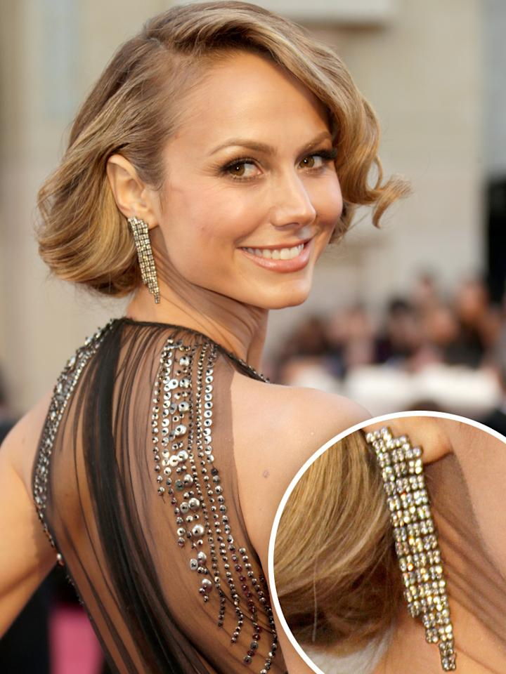 Stacy Keibler arrives at the Oscars in Hollywood, California, on February 24, 2013.