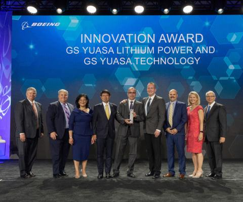 GS Yuasa Lithium Power Awarded 2018 Boeing Supplier of the Year for Innovation
