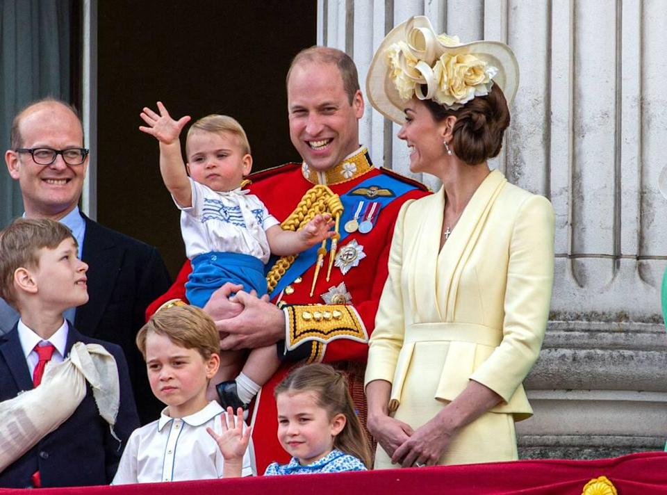 Trooping the Colour 2019, Prince Louis, Prince George, Princess Charlotte, Prince William, Kate Middleton, Wave