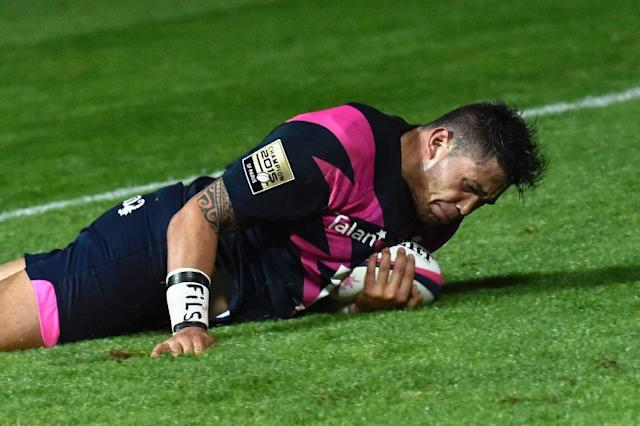 Stade Francais' Raphael Lakafia, pictured in 2015, scored a try as the French champs downed Ospreys (AFP Photo/LOIC VENANCE)