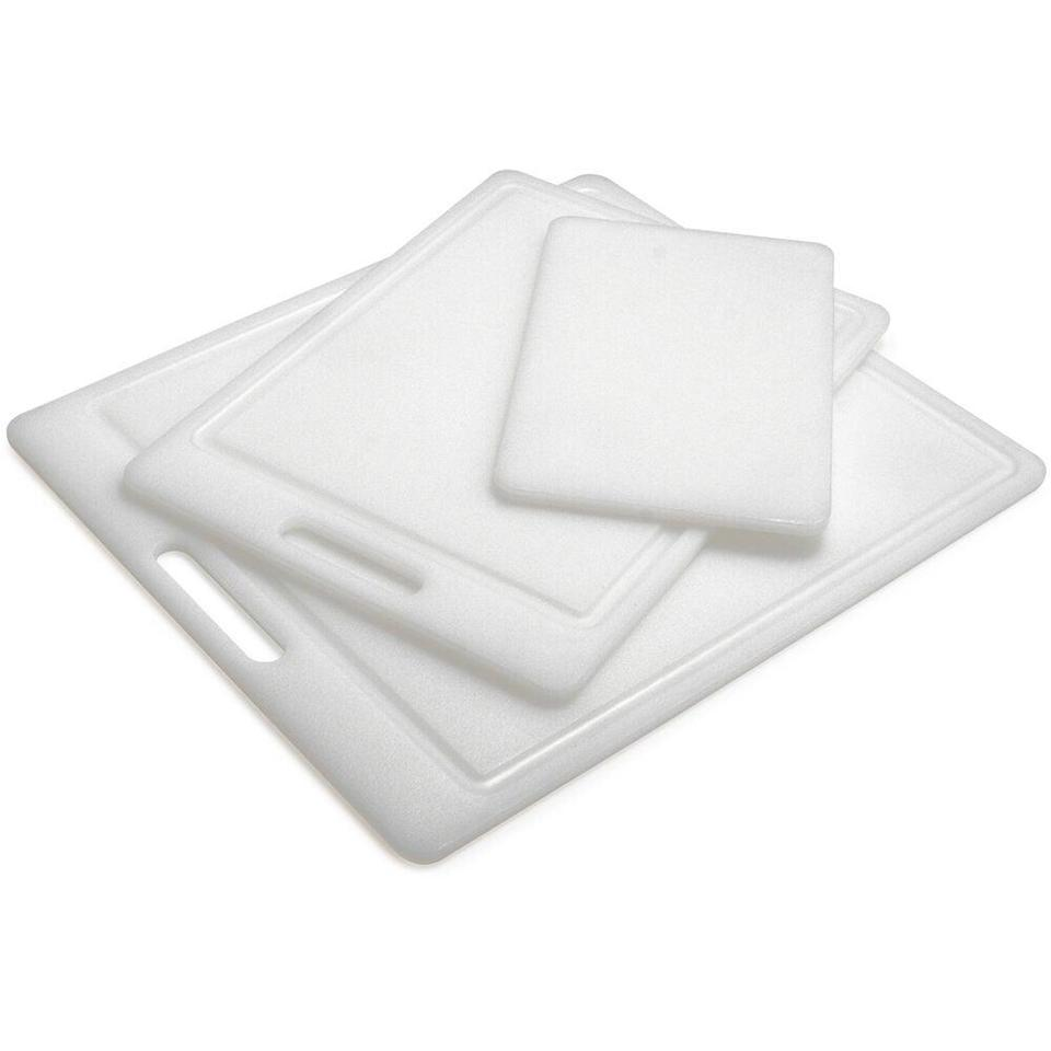 "<em>*An </em><strong><em>extra 20% off</em></strong><em> with code </em><strong><em>TART</em></strong><em> at checkout.</em><br><br><strong>Sur La Table</strong> Prolypropylene Cutting Boards, $, available at <a href=""https://go.skimresources.com/?id=30283X879131&url=https%3A%2F%2Fwww.surlatable.com%2Fset-of-3-white-nsf-cutting-boards%2FPRO-695304.html"" rel=""nofollow noopener"" target=""_blank"" data-ylk=""slk:Sur La Table"" class=""link rapid-noclick-resp"">Sur La Table</a>"