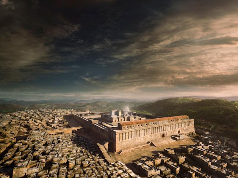 A computer-generated recreation of Jerusalem in the 1st century CE (AD), featuring the latest archaeological consensus on what the 2nd Temple might have looked like before it was destroyed by the Roman army. (Image exclusive to The Huffington Post)