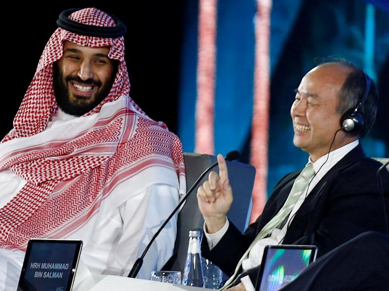 Mohammed bin Salman and Masayoshi Son SoftBank