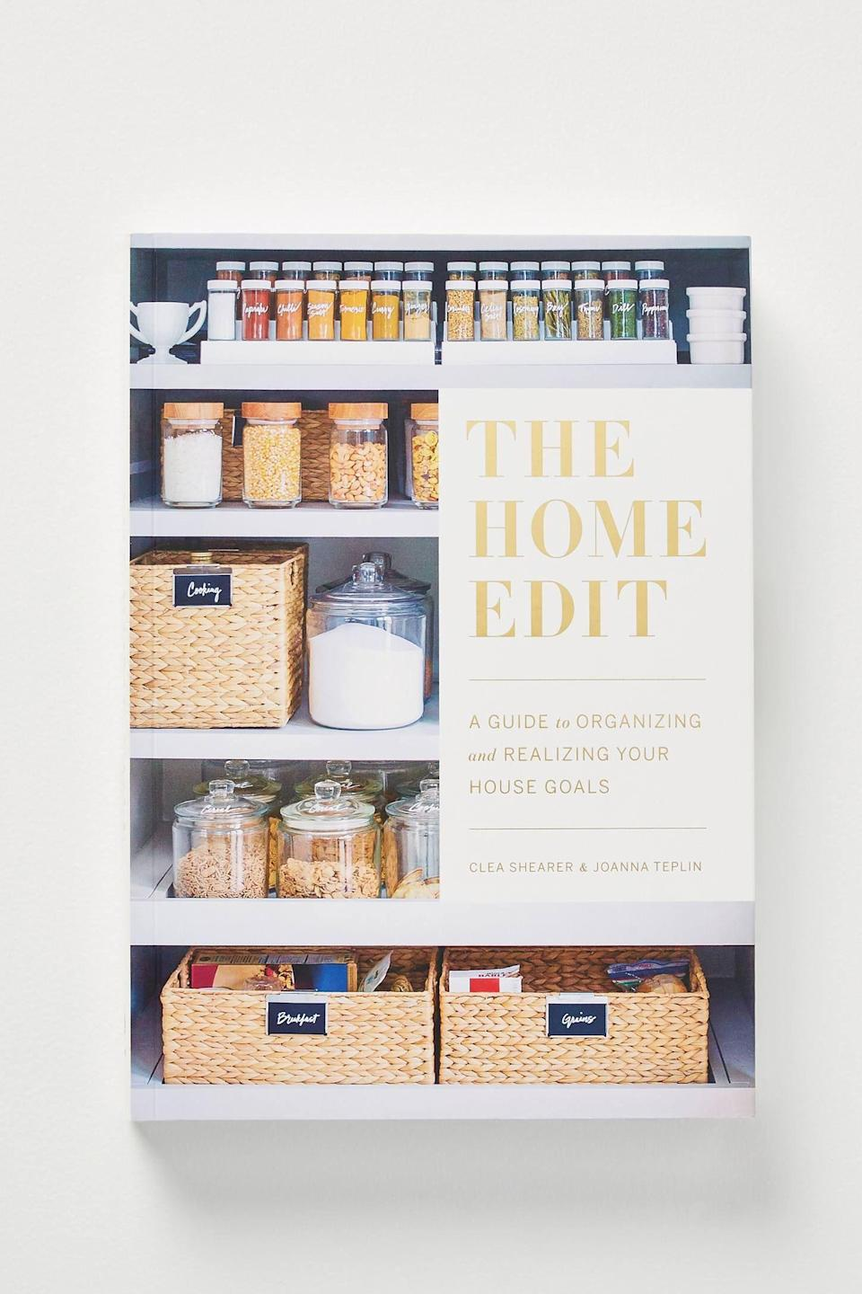 """<p><strong>Anthropologie</strong></p><p>anthropologie.com</p><p><strong>$24.99</strong></p><p><a href=""""https://go.redirectingat.com?id=74968X1596630&url=https%3A%2F%2Fwww.anthropologie.com%2Fshop%2Fthe-home-edit2&sref=https%3A%2F%2Fwww.seventeen.com%2Flife%2Ffriends-family%2Fg30140775%2Fgifts-for-mom-from-daughter%2F"""" rel=""""nofollow noopener"""" target=""""_blank"""" data-ylk=""""slk:Shop Now"""" class=""""link rapid-noclick-resp"""">Shop Now</a></p><p>If you're <em>really </em>struggling for a gift, just force her to watch <em>Get Organized With the Home Edit </em>on Netflix and then buy her this. Trust me.</p>"""