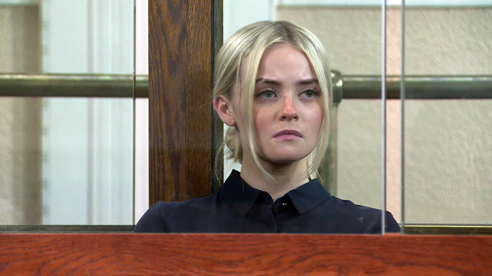 FROM ITVSTRICT EMBARGO - No Use Before  Tuesday 21st September  2021Coronation Street - Ep 10442Wednesday 29th September 2021 - 1st Ep ItÕs the day of Kelly NeelanÕs [MILLIE GIBSON] sentencing. An impassioned Imran Habeeb [CHARLIE DE MELO] delivers his speech, begging the judge to consider KellyÕs troubled upbringing and fragile mental health. Picture contact David.crook@itv.comThis photograph is (C) ITV Plc and can only be reproduced for editorial purposes directly in connection with the programme or event mentioned above, or ITV plc. Once made available by ITV plc Picture Desk, this photograph can be reproduced once only up until the transmission [TX] date and no reproduction fee will be charged. Any subsequent usage may incur a fee. This photograph must not be manipulated [excluding basic cropping] in a manner which alters the visual appearance of the person photographed deemed detrimental or inappropriate by ITV plc Picture Desk. This photograph must not be syndicated to any other company, publication or website, or permanently archived, without the express written permission of ITV Picture Desk. Full Terms and conditions are available on  www.itv.com/presscentre/itvpictures/terms