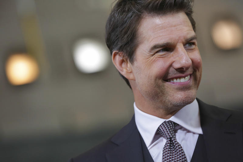 "Actor Tom Cruise attends the U.S. premiere of ""Mission: Impossible - Fallout"" at The Smithsonian National Air and Space Museum on Sunday, July 22, 2018 in Washington. (Photo by Brent N. Clarke/Invision/AP)"