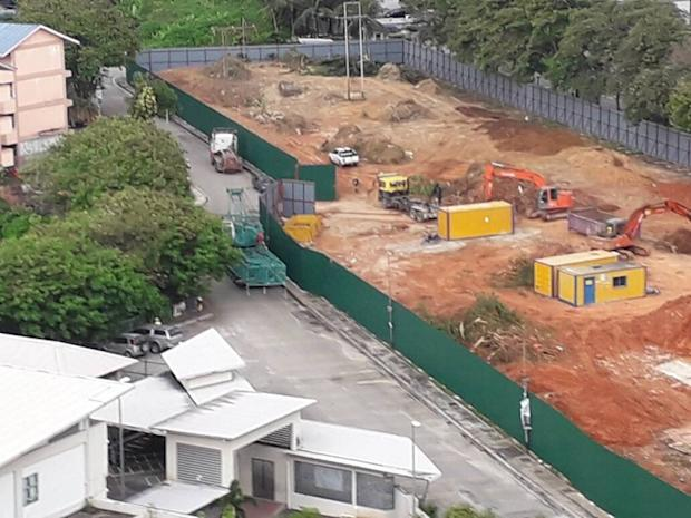 A close-up view of the project site, with buildings of two schools seen across the road. — Picture courtesy of Protect Taman Desa