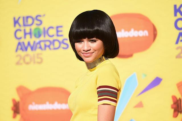 <p>At Nickelodeon's 28th Kids' Choice Awards, Zendaya looked adorable with her blunt bangs and beautiful smile. (Photo: Getty) </p>