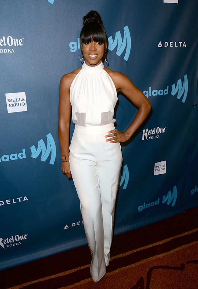 LOS ANGELES, CA - APRIL 20:  Singer Kelly Rowland attends the 24th Annual GLAAD Media Awards presented by Ketel One and Wells Fargo at JW Marriott Los Angeles at L.A. LIVE on April 20, 2013 in Los Angeles, California.  (Photo by Jason Merritt/Getty Images for GLAAD)