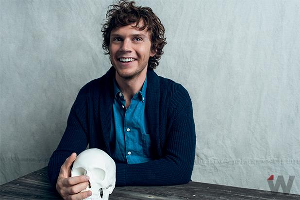 Emmy Quickie: 'American Horror Story: Hotel' Star Evan Peters Exclusive StudioWrap Portraits (Photos)