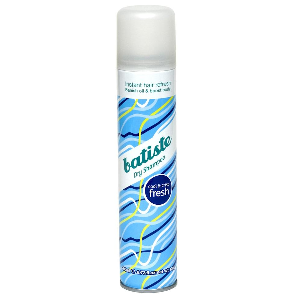 "<p>""<span>Batiste Dry Shampoo in Fresh</span> ($6) is the perfect in-between dry shampoo. It's super affordable, which is a good thing because you'll blow through bottle after bottle. It feels light on your hair and smells great, and doesn't leave a weird buildup after using it for a few days. Just last week I went without shampooing for an alarming five days, and guess what? No one could tell."" - Mandy Harris, executive editor</p>"