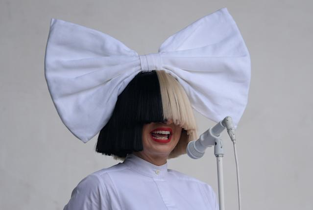 SIA performs on the Virgin Media Stage during the V Festival at Weston Park in Shifnal, Shropshire.