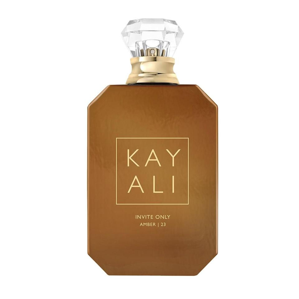 In just three years, Huda Kattan and her sister Mona have launched eight fragrances under the Kayali umbrella, and the latest, Invite Only Amber 23, is arguably the best — if not the one that we most want to wear for fall. A spicy gourmand, it drips with amber, tonka, and ceylon cinnamon for an effect so sultry, cold people will try to warm themselves up by standing next to you.
