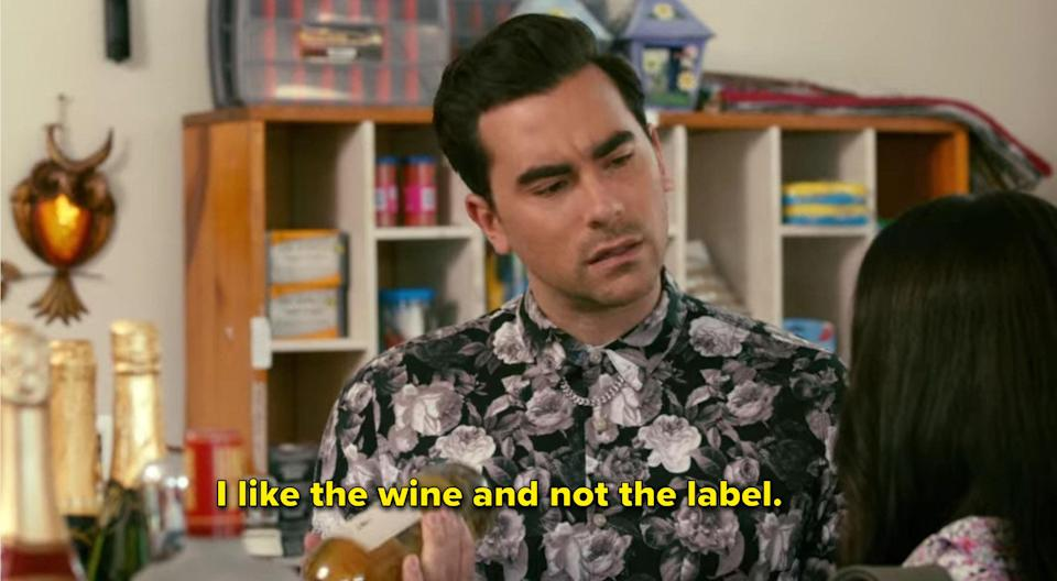 """David says """"I like the wine and not the label"""""""