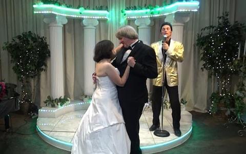 David and Louise Turpin renew their vows at Elvis chapel in Las Vegas - Credit: Elvis Chapel/YouTube