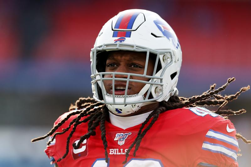 Buffalo Bills linebacker Tremaine Edmunds will be on the opposite sideline from his brothers on Sunday. (Bryan M. Bennett/Getty Images)