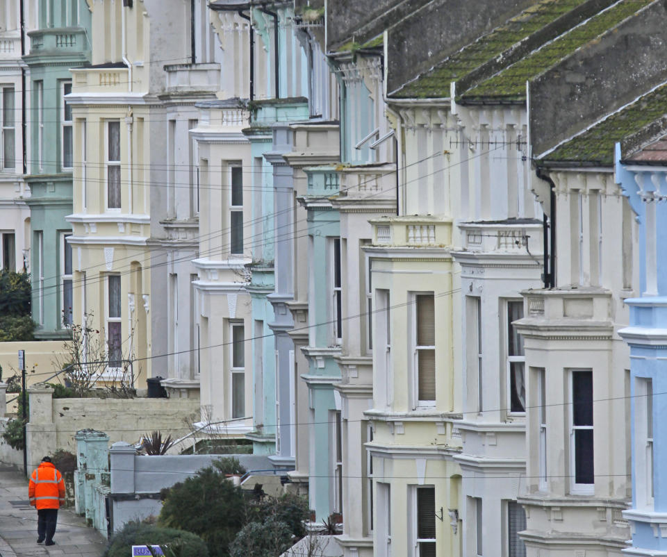 Homes in Hastings as UK property has seen a boom in sales and prices in the second half of 2020. Photo: Luke MacGregor/Reuters