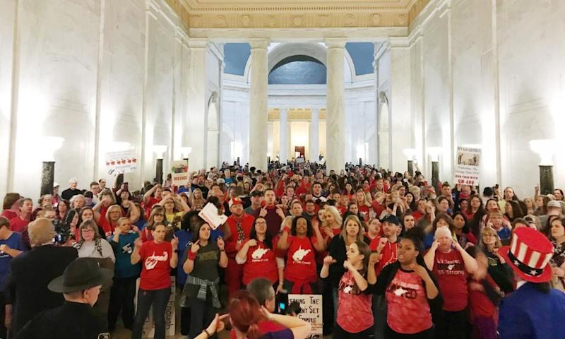 Teachers celebrate in West Virginia