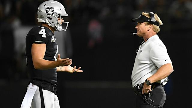 Derek Carr rejected talk of a rift with his team-mates and insisted he is committed to the Oakland Raiders cause.