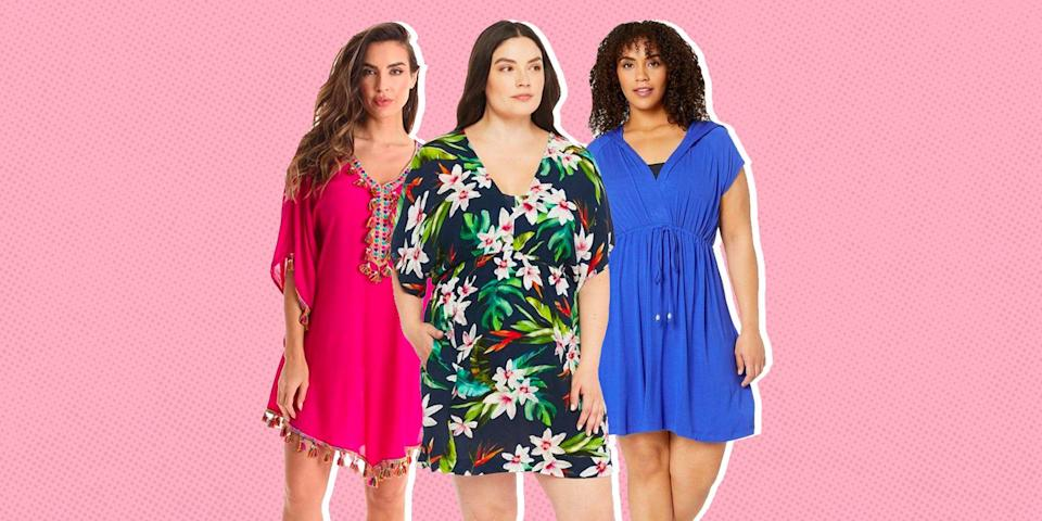 """<p>Believe it or not, <a href=""""https://www.oprahdaily.com/style/g26359023/best-bathing-suits-women/"""" rel=""""nofollow noopener"""" target=""""_blank"""" data-ylk=""""slk:swimsuit season"""" class=""""link rapid-noclick-resp"""">swimsuit season</a> is already here, which means it's time to stock up on some summer fashion staples. Of course, <a href=""""https://www.oprahdaily.com/style/g26345528/best-plus-size-bathing-suits/"""" rel=""""nofollow noopener"""" target=""""_blank"""" data-ylk=""""slk:a bathing suit you feel confident in"""" class=""""link rapid-noclick-resp"""">a bathing suit you feel confident in</a> is essential for a beach vacation—or even a dip in your <a href=""""https://www.oprahdaily.com/life/g32434002/best-inflatable-pools/"""" rel=""""nofollow noopener"""" target=""""_blank"""" data-ylk=""""slk:inflatable backyard pool"""" class=""""link rapid-noclick-resp"""">inflatable backyard pool</a>—but <a href=""""https://www.oprahdaily.com/style/g32224590/cute-cover-ups/"""" rel=""""nofollow noopener"""" target=""""_blank"""" data-ylk=""""slk:a cute cover-up"""" class=""""link rapid-noclick-resp"""">a cute cover-up</a> is a bonus.</p><p>While brands like <a href=""""https://go.redirectingat.com?id=74968X1596630&url=https%3A%2F%2Fwww.universalstandard.com%2F&sref=https%3A%2F%2Fwww.oprahdaily.com%2Fstyle%2Fg32771615%2Fbest-plus-size-swimsuit-cover-up%2F"""" rel=""""nofollow noopener"""" target=""""_blank"""" data-ylk=""""slk:Universal Standard"""" class=""""link rapid-noclick-resp"""">Universal Standard</a>, <a href=""""https://go.redirectingat.com?id=74968X1596630&url=https%3A%2F%2Fwww.torrid.com%2F&sref=https%3A%2F%2Fwww.oprahdaily.com%2Fstyle%2Fg32771615%2Fbest-plus-size-swimsuit-cover-up%2F"""" rel=""""nofollow noopener"""" target=""""_blank"""" data-ylk=""""slk:Torrid"""" class=""""link rapid-noclick-resp"""">Torrid</a>, and <a href=""""https://go.redirectingat.com?id=74968X1596630&url=https%3A%2F%2Fwww.anthropologie.com%2Fall-plus-size-clothing&sref=https%3A%2F%2Fwww.oprahdaily.com%2Fstyle%2Fg32771615%2Fbest-plus-size-swimsuit-cover-up%2F"""" rel=""""nofollow noopener"""" target=""""_blank"""" data-ylk=""""slk:Anthropologie"""" class=""""link rapid"""