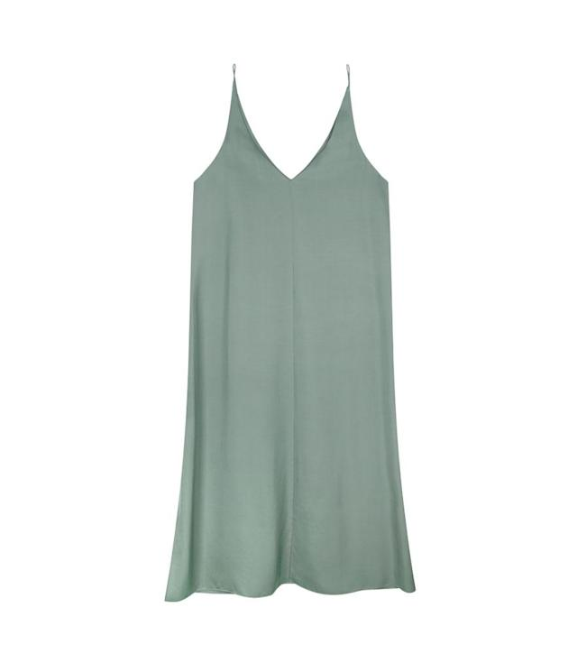 "<p>Mini silk V-neck slipdress, $79, similar colors available at <a href=""https://www.grana.com/women/dresses.html"" rel=""nofollow noopener"" target=""_blank"" data-ylk=""slk:grana.com"" class=""link rapid-noclick-resp"">grana.com</a> </p>"