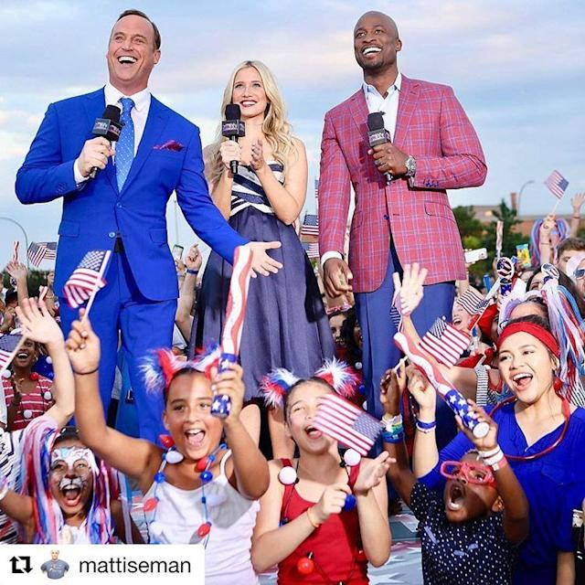 <p>#Repost @mattiseman: Hey America, #AmericanNinjaWarrior is taking over @yahootv! @kristineleahy @akbar_gbaja & I sharing behind the scenes shots from the finals in Vegas. #Gold </p>