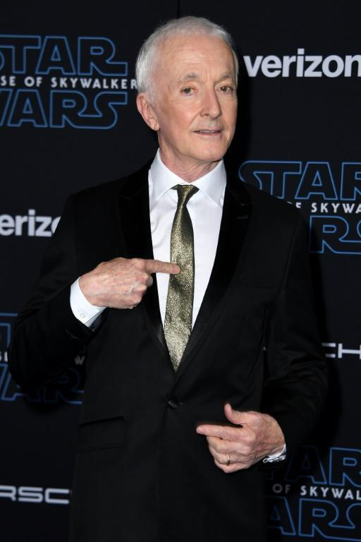 """English actor Anthony Daniels has played droid C-3PO in every main """"Star Wars"""" film (AFP Photo/VALERIE MACON)"""