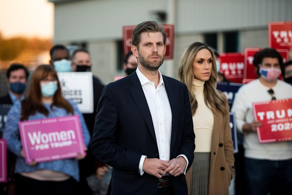 <p>File image: Lara Trump and her husband, Eric Trump, were deeply involved in political work during Donald Trump's tenure as the president     </p> (Reuters)