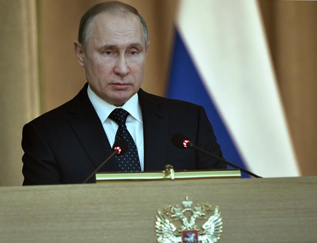 Russian President Vladimir Putin can't like the fact that his country hasn't won any gold medals at these Olympics. (AP)