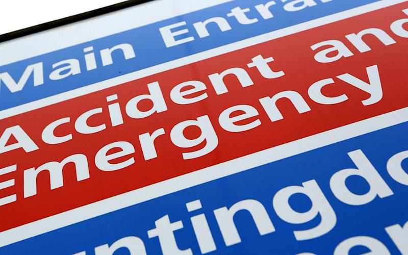 Accident and Emergency  - Credit: Chris Radburn /PA