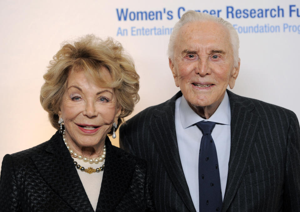 Kirk Douglas and his wife Anne arrive at the annual