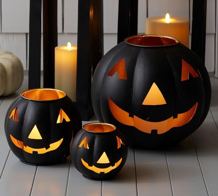 <p>Give your home a spine-chilling glow with the <span>Metal Jack-O'- Lantern Candle Holders</span> ($59).</p>