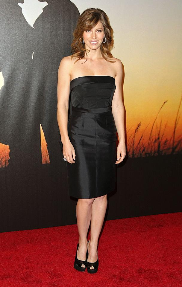"""<a href=""""http://movies.yahoo.com/movie/contributor/1800022448"""">Jessica Biel</a> at the MoMa Film benefit gala honoring Baz Luhrmann in New York - 11/10/2008"""