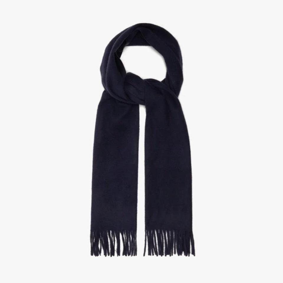"$109, MATCHESFASHION.COM. <a href=""https://www.matchesfashion.com/us/products/Raey-Fringed-wool-blend-scarf-1342518"" rel=""nofollow noopener"" target=""_blank"" data-ylk=""slk:Get it now!"" class=""link rapid-noclick-resp"">Get it now!</a>"