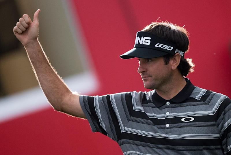 Bubba Watson of the US, seen after winning the WGC-HSBC Champions Golf tournament in Shanghai, on November 9, 2014 (AFP Photo/Johannes Eisele)
