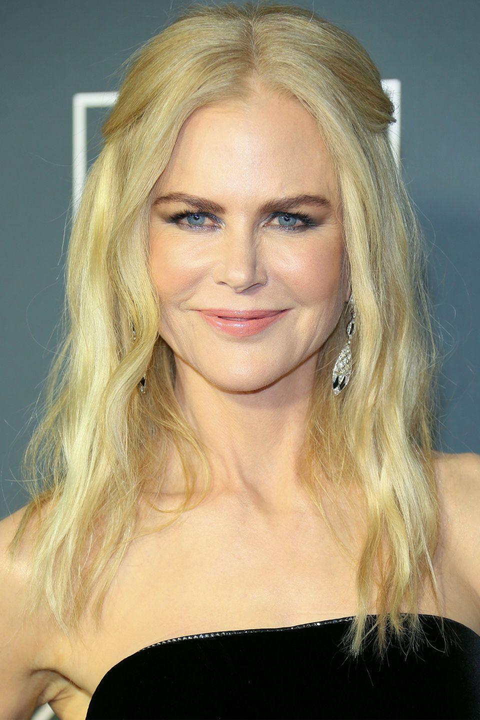 "<p>The actress <a href=""https://www.cbsnews.com/pictures/actors-who-dropped-out-of-school/2/"" rel=""nofollow noopener"" target=""_blank"" data-ylk=""slk:dropped out"" class=""link rapid-noclick-resp"">dropped out</a> of school in Australia when she was 16 to pursue acting full time. </p>"
