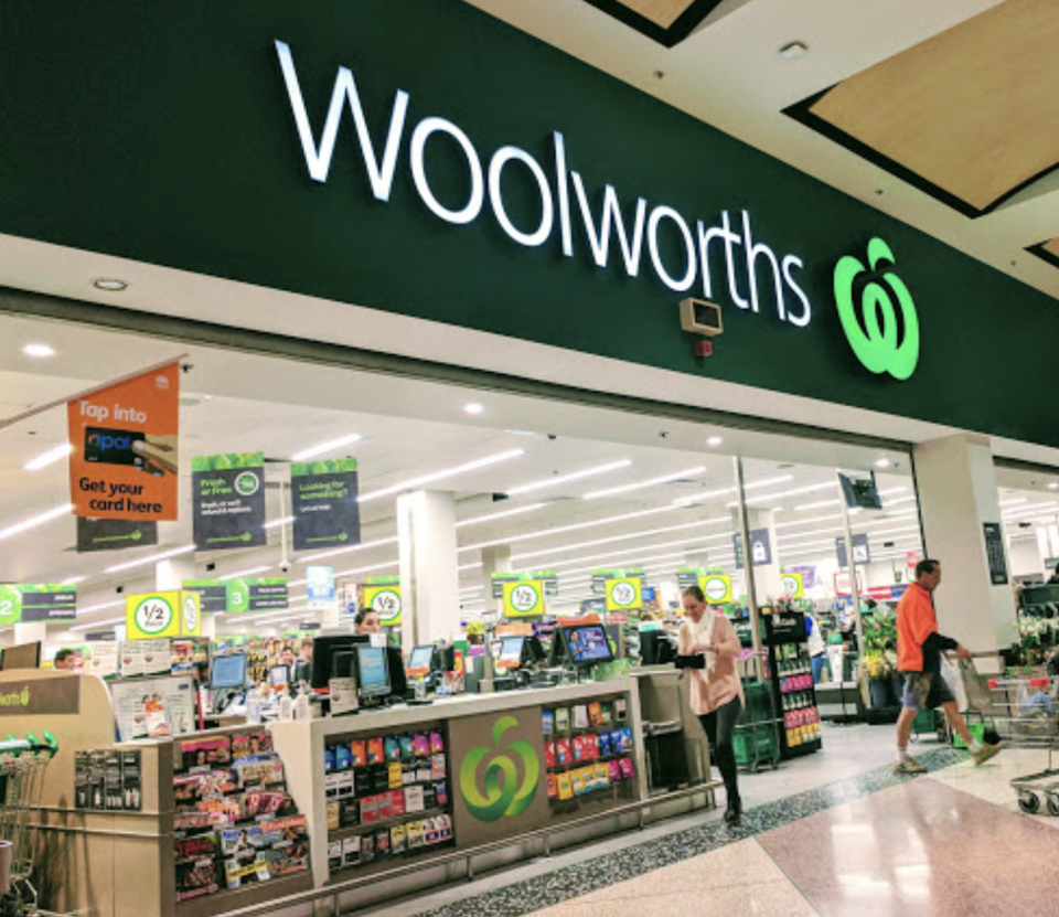 Front of Woolworths Hornsby.