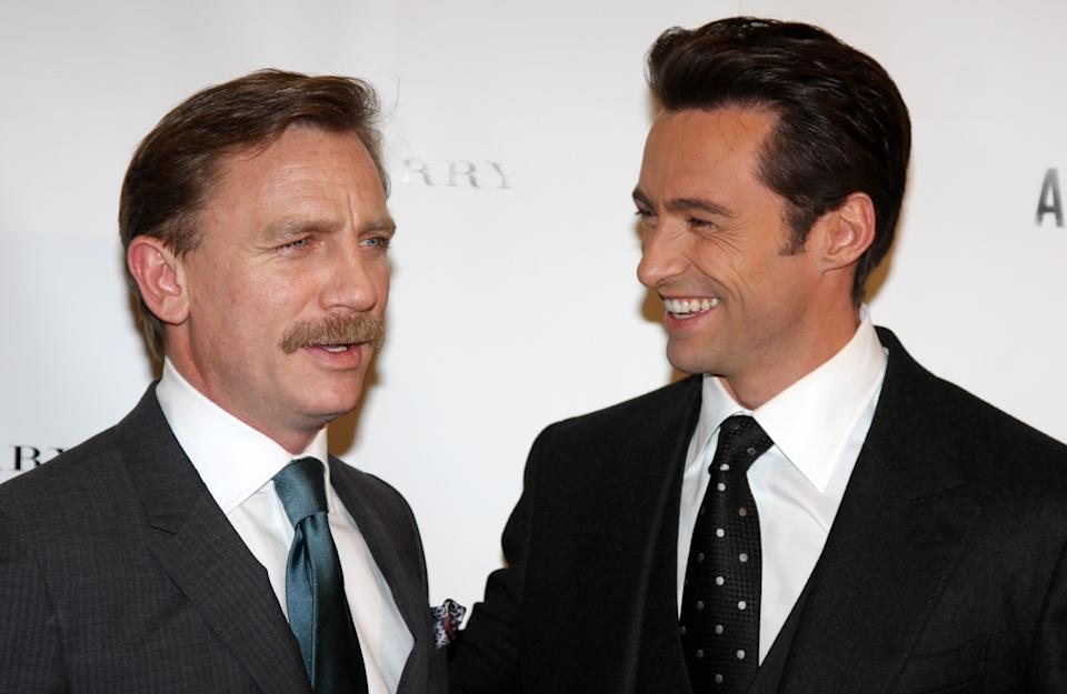 NEW YORK - SEPTEMBER 29:  Daniel Craig and Hugh Jackman attend the opening night afterparty for