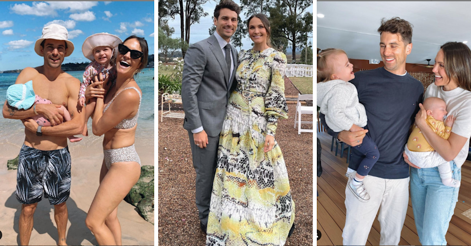 Matty J and Laura Byrne with their kids