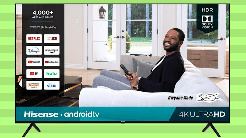 Big savings: Get more than $832 off this massive JVC 4K — and it's NBA star Dwyane Wade-approved! (Photo: Walmart)