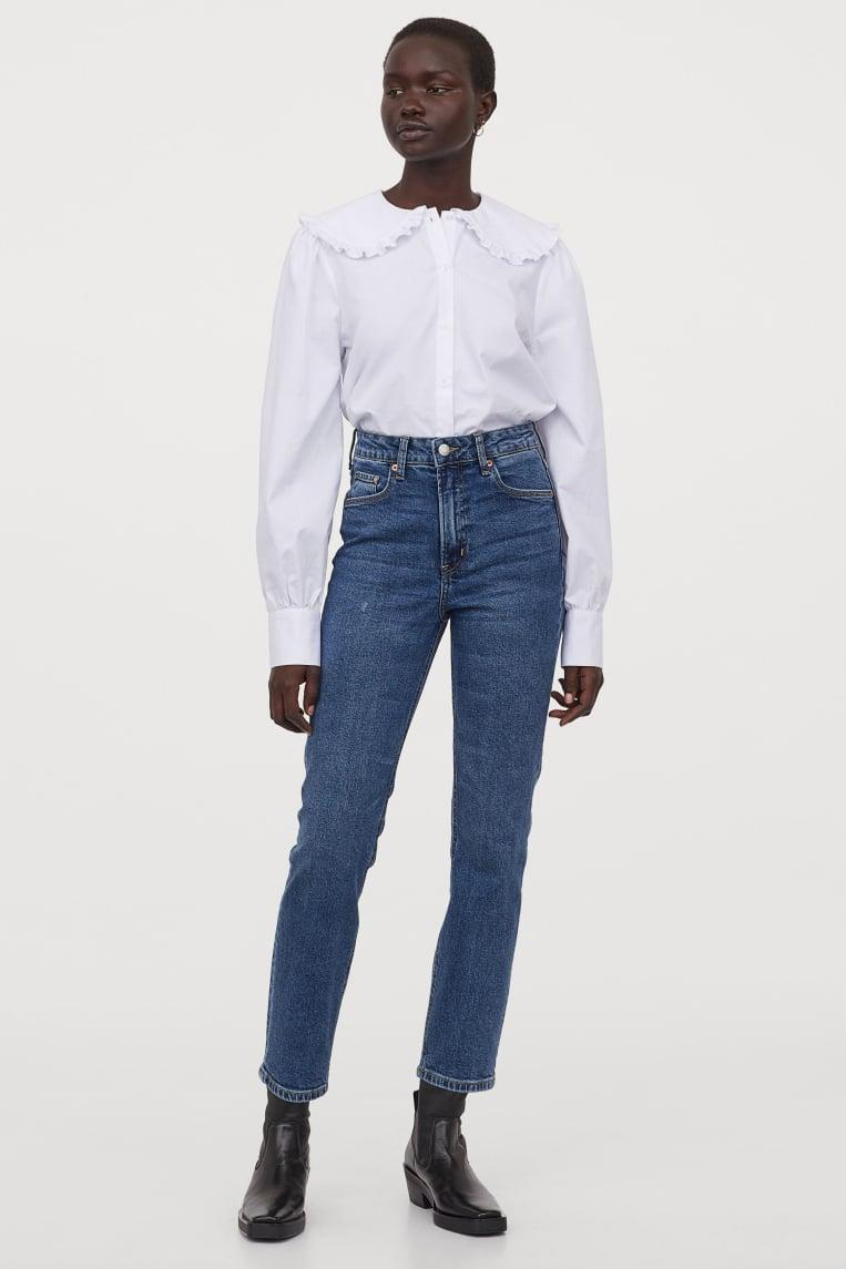 <p>The vintage style of these <span>H&amp;M Slim High Ankle Jeans</span> ($30) is perfect.</p>