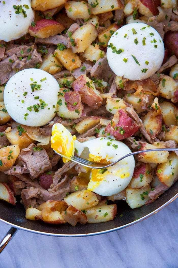 """<p>Have prime rib for Christmas dinner and again for breakfast the next morning.</p><p>Get the recipe from <a href=""""https://www.thekitchenmagpie.com/leftover-prime-rib-hash-skillet/"""" rel=""""nofollow noopener"""" target=""""_blank"""" data-ylk=""""slk:The Kitchen Magpie"""" class=""""link rapid-noclick-resp"""">The Kitchen Magpie</a>.</p>"""