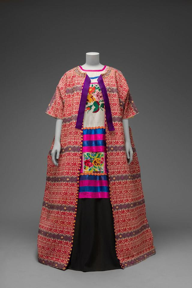 "<p>""I have a personal relationship to the Tehuana dress, my great-uncles were close friends to Diego Rivera and Frida Kahlo back in the 40s,"" says Circe. ""In our family, we always said that Frida's first Tehuana dresses were given to her by Alfa, my aunt. I don't know if that is true, but there are scholars who say Alfa used to bring Frida many Oaxacan pieces form the Tehuantepec Isthmus. The Tehuantepec Isthmus is a matriarchal society located in the south east of Mexico, where women administrate the society and dress in the Tehuana attire. Growing up I was surrounded by these colourful Tehuana dresses and the traditions were carefully passed to me by my family.""</p>"