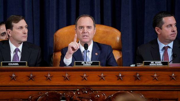 PHOTO: House Intelligence Chairman Adam Schiff speaks during the House Intelligence Committee hearing with witness Marie Yovanovitch, as part of the impeachment inquiry into President Donald Trump on Capitol Hill in Washington, Nov. 15, 2019. (Joshua Roberts/Reuters)