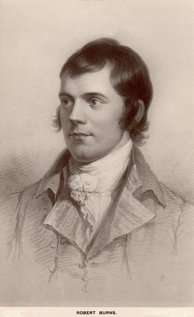 Scottish poet Robert Burns (1759 - 1796). (Photo by Hulton Archive/Getty Images)