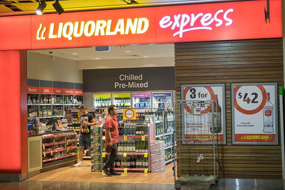 A Liquorland Express is pictured in Melbourne.
