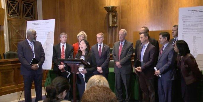 The evangelical Christian organization World Reliefheld a press conference Wednesday on Capitol Hill. (World Relief/Facebook)