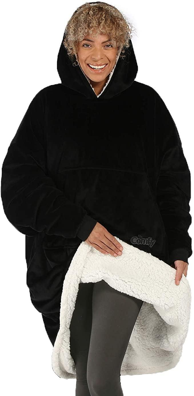 <p><span>The Comfy Original </span> ($39) is your new work-from-home uniform. The oversize microfiber and soft sherpa wearable blanket comes in a variety of colors.</p>