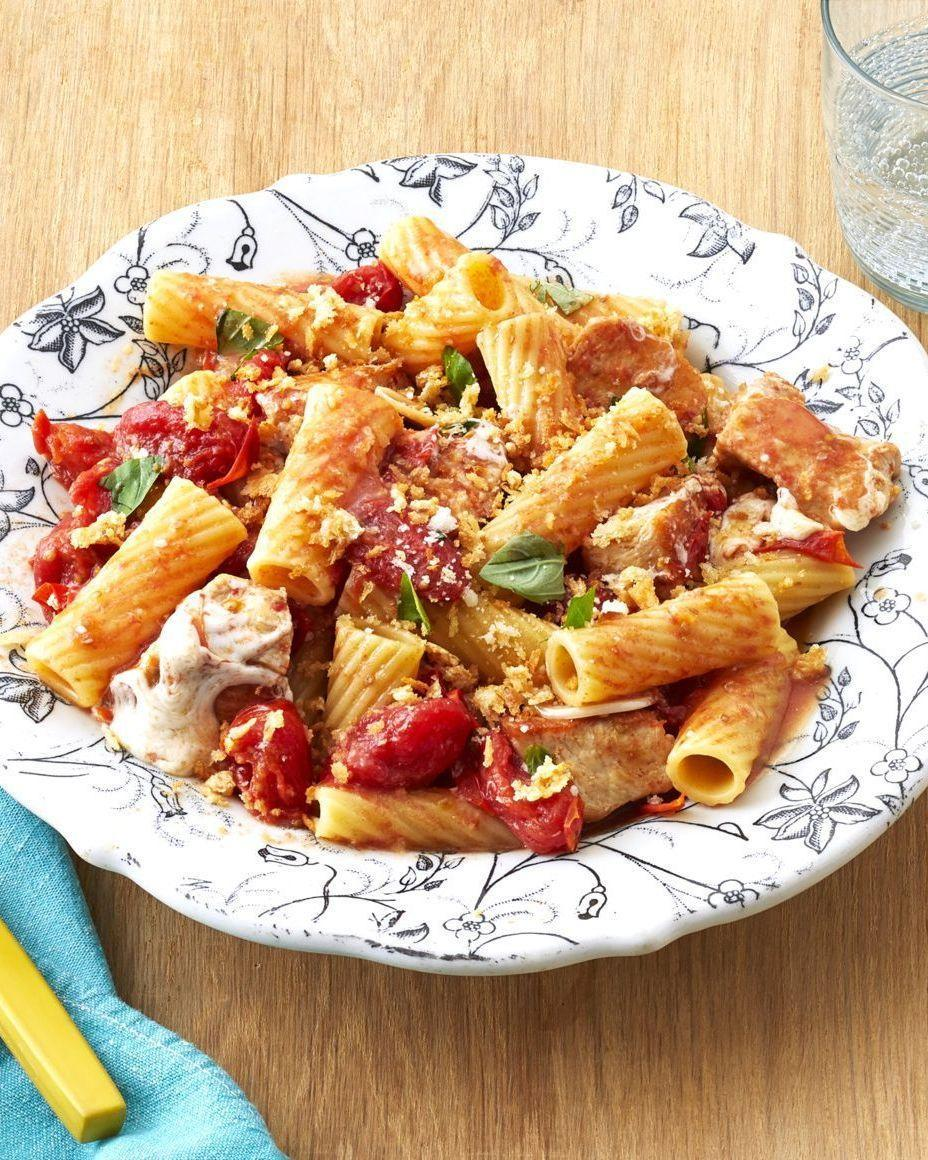 "<p>Because there's no counting carbs on Mother's Day! All the flavors you know and love from the classic caprese salad are reprised in this exquisite pasta dish. </p><p><strong><a href=""https://www.thepioneerwoman.com/food-cooking/recipes/a32557103/caprese-chicken-pasta-recipe/"" rel=""nofollow noopener"" target=""_blank"" data-ylk=""slk:Get the recipe"" class=""link rapid-noclick-resp"">Get the recipe</a>.</strong></p><p><strong><a class=""link rapid-noclick-resp"" href=""https://go.redirectingat.com?id=74968X1596630&url=https%3A%2F%2Fwww.walmart.com%2Fbrowse%2Fhome%2Fthe-pioneer-woman-pots-pans%2F4044_623679_8140341_9944424&sref=https%3A%2F%2Fwww.thepioneerwoman.com%2Ffood-cooking%2Fmeals-menus%2Fg35589850%2Fmothers-day-dinner-ideas%2F"" rel=""nofollow noopener"" target=""_blank"" data-ylk=""slk:SHOP POTS AND PANS"">SHOP POTS AND PANS</a></strong></p>"
