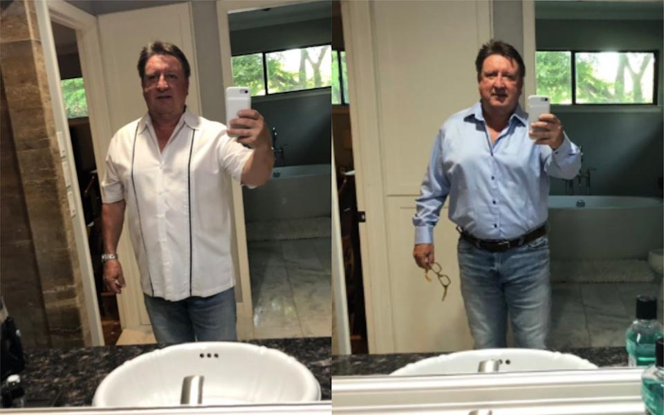 Jeff Saville has become an Internet sensation after seeking fashion advice from his daughter [Photo: Twitter]